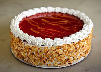 Raspberry Chiffon Cakes | Roland's Swiss Bakery - Houston, TX